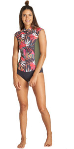 2019 Billabong Womens 1mm Captain Sleeveless Spring Shorty Wetsuit Tropical Q41G02