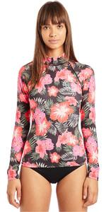 2019 Billabong Womens Flower Long Sleeve Rash Vest Hawaii N4GY04