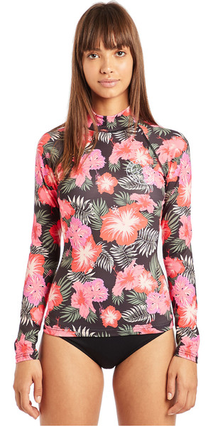 2019 Billabong Womens Flower Long Sleeve Rash Vest Hawaii N4GY04