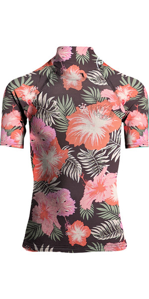 2019 Billabong Womens Flower Short Sleeve Rash Vest Hawaii N4GY03