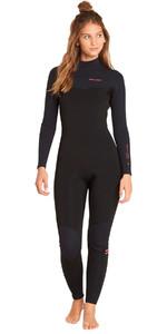 2018 Billabong Womens Furnace Carbon Comp 4/3mm Chest Zip Wetsuit Black L44G02