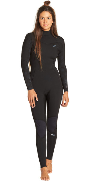2019 Billabong Womens Furnace Synergy 3/2mm Back Zip GBS Wetsuit Black Palms N43G04