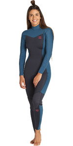 2019 Billabong Womens Furnace Synergy 5/4mm Back Zip Wetsuit Black Marine Q45G05