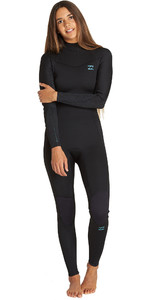 2020 Billabong Womens Furnace Synergy 5/4mm Back Zip Wetsuit Black Q45G05