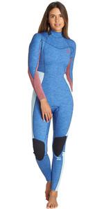 2019 Billabong Womens Furnace Synergy 5/4mm Back Zip Wetsuit Blue Heather Q45G05