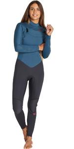 2019 Billabong Womens Furnace Synergy 3/2mm Chest Zip Wetsuit Black Marine Q43G30