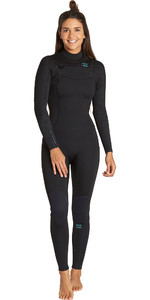 2019 Billabong Womens Furnace Synergy 3/2mm Chest Zip Wetsuit Black Q43G30