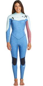 2019 Billabong Womens Furnace Synergy 5/4mm Chest Zip Wetsuit Blue Heather Q45G32