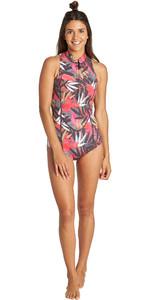 2019 Billabong Womens Salty Dayz 1mm Front Zip Sleeveless Shorty Wetsuit Tropical Q41G08