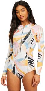 2021 Billabong Womens Salty Dayz 2mm Long Sleeve Shorty Wetsuit Z42G16 - Heat Wave