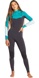 2019 Billabong Womens Salty Dayz 4/3mm Chest Zip Wetsuit Palm Green Q44G75