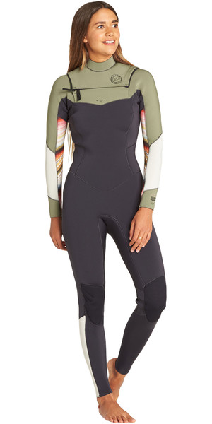 2019 Billabong Womens Salty Dayz 3/2mm Chest Zip Wetsuit Serape N43G30