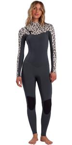 2021 Billabong Womens Salty Dayz 5/4mm Chest Zip Wetsuit W45G50 - Leopard