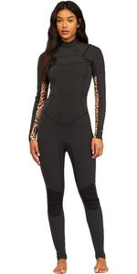 2021 Billabong Womens Salty Dayz 4/3mm Chest Zip Wetsuit Z44G10 - Animal