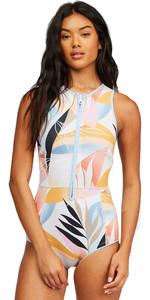 2021 Billabong Womens Sol Sistah 1mm Shorty Spring Wetsuit Z42G17 - Heat Wave