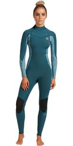 2021 Billabong Womens Synergy 5/4mm Back Zip Wetsuit W45G52 - Blue Seas