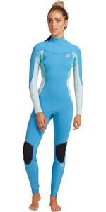 2021 Billabong Womens Synergy 5/4mm Back Zip Wetsuit W45G52 - Maui Blue