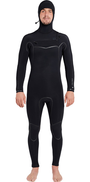 2018 Billabong Furnace Carbon Ultra 5/4mm Hooded Chest Zip Wetsuit Black L45M20