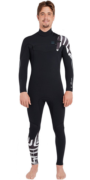 2018 Billabong Furnace Carbon 5/4mm Chest Zip Wetsuit Blacrint L45M03