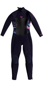 2018 Roxy Toddler Syncro 4/3mm Back Zip Wetsuit Blue Ribbon ERLW103002