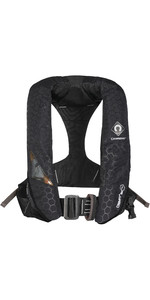 2020 Crewsaver Crewfit + 180N Pro Automatic Harness Lifejacket With Hood & Light 9035BKAP - Black