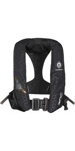 2021 Crewsaver Crewfit + 180N Pro Automatic Harness Lifejacket With Hood & Light 9035BKAP - Black