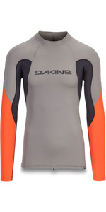 2019 Dakine Mens Heavy Duty Snug Fit Long Sleeve Rash Vest Carbon 10002280