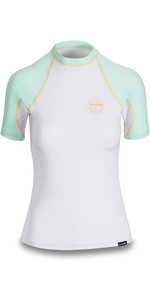 2019 Dakine Womens Flow Snug Fit Short Sleeve Rash Vest Pastel 10002332