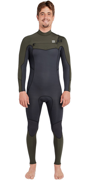 2018 Billabong Furnace Absolute 5/4mm Chest Zip Wetsuit Dark Olive L45M09