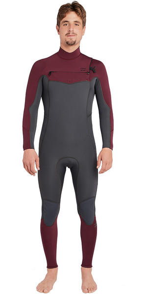 2018 Billabong Furnace Absolute 5/4mm Chest Zip Wetsuit Dark Plum L45M09