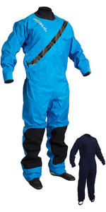 2019 GUL Dartmouth Eclip Zip Drysuit Inc underfleece Blue GM0378-B5