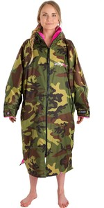 2019 Dryrobe Advance Long Sleeve Premium Outdoor Change Robe DR104 Camo / Pink