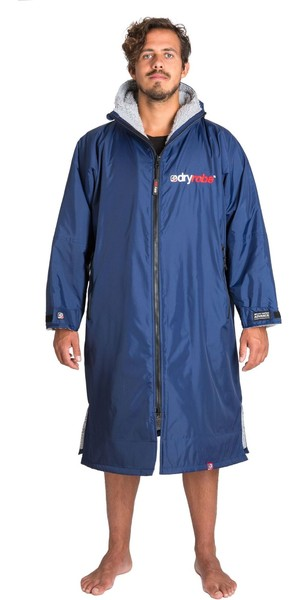 2018 Dryrobe Advance Long Sleeve Premium Outdoor Change Robe DR104 Navy / GREY