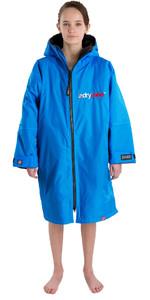 2021 Dryrobe Advance Junior Long Sleeve Premium Outdoor Change Robe / Poncho DR104 - Cobalt Blue