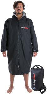 2019 Dryrobe Advance Long Sleeve Change Robe & Compression Travel Bag Package Deal - Black / Grey