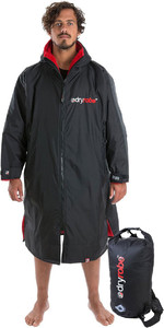2019 Dryrobe Advance Long Sleeve Change Robe & Compression Travel Bag Package Deal - Black / Red