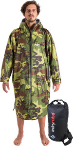 2019 Dryrobe Advance Long Sleeve Change Robe & Compression Travel Bag Package Deal - Camo / Grey