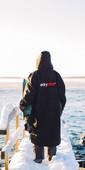 2021 Dryrobe Advance Long Sleeve Premium Outdoor Change Robe /  Poncho DR104 - Black / Grey