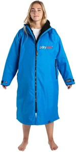 2021 Dryrobe Advance Long Sleeve Premium Outdoor Change Robe / Poncho DR104 - Cobalt Blue / Black
