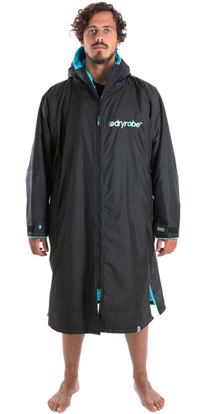 2018 Dryrobe Advance - Long Sleeve Premium Outdoor Change Robe DR104 - L Black / Blue