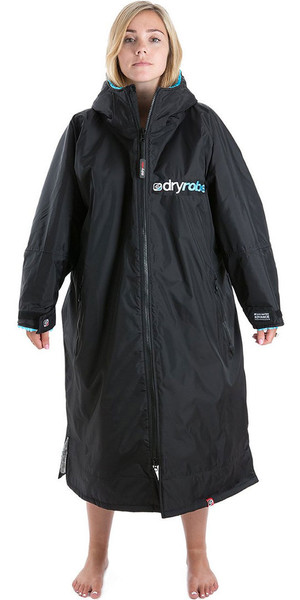 2018 Dryrobe Advance - Long Sleeve Premium Outdoor Change Robe DR104 - S Black / Blue