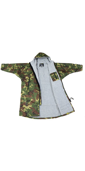 2018 Dryrobe Advance - Long Sleeve Premium Outdoor Change Robe DR104 - S Camo / Grey