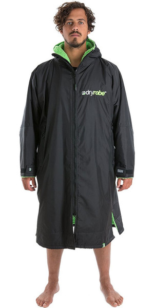 2018 Dryrobe Advance - Long Sleeve Premium Outdoor Change Robe DR104 - L Black / Green