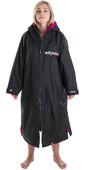 2020 Dryrobe Advance Long Sleeve Premium Outdoor Change Robe / Poncho DR104 - Black / Pink