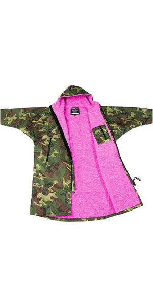 2018 Dryrobe Advance - Long Sleeve Premium Outdoor Change Robe DR104 - S Camo / Pink