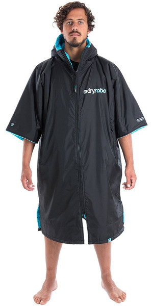 2018 Dryrobe Advance - Short Sleeve Premium Outdoor Change Robe DR100 - L Black / Blue