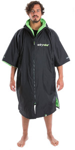 2020 Dryrobe Advance Short Sleeve Premium Outdoor Change Robe / Poncho DR100 - Black / Green