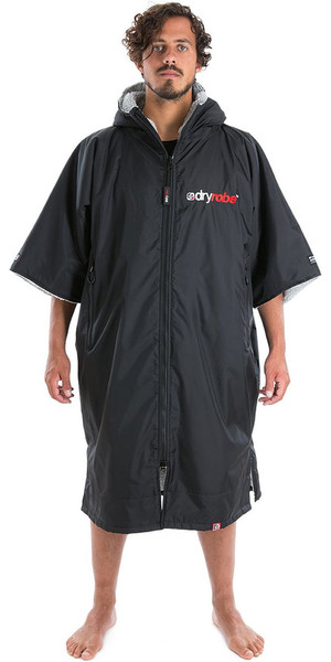 2018 Dryrobe Advance - Short Sleeve Premium Outdoor Change Robe DR100 - L Black / Grey
