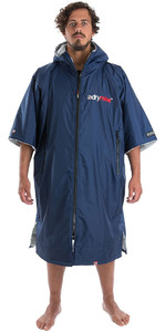 2020 Dryrobe Advance Short Sleeve Premium Outdoor Change Robe / Poncho DR100 - Navy / Grey