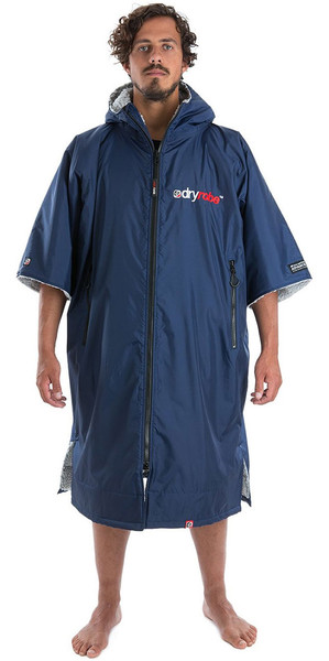 2018 Dryrobe Advance - Short Sleeve Premium Outdoor Change Robe DR100 - L Navy / Grey